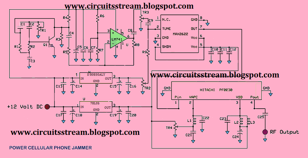 Cell Phone Jammer Schematic Diagram on single line diagram in autocad electrical