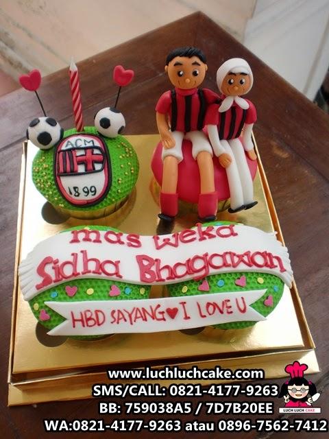 Cupcake AC MILAN Daerah Surabaya - Sidoarjo