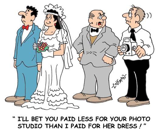 Funny wedding cartoon