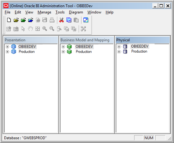 to create the connection we have to be in local network where obiee server installed or have to be connected with network atleast through vpn obiee administration