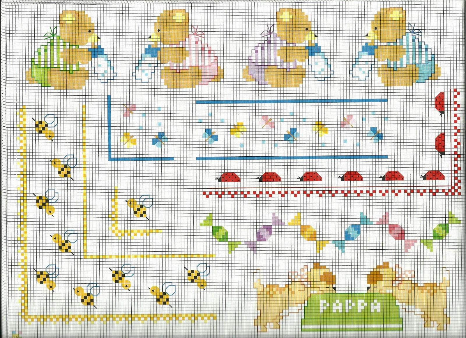 Artes de maria helena domingo 27 de novembro de 2011 for Punto croce schemi bambini