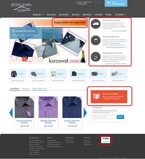 JegoSzafa.pl - przykład Unique selling proposition (USP) w internecie (witryna sklepu internetowego).