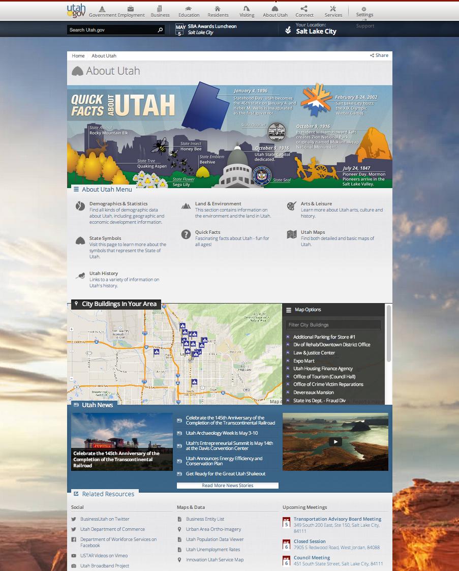 Utah.gov - About Utah page image