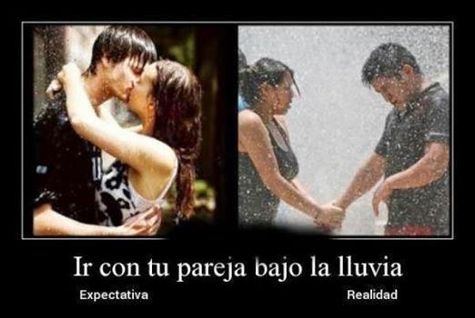 Expectativa vs Realidad bajo lluvia