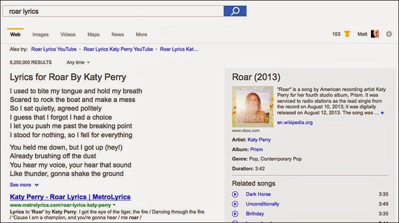 Bing Lyrics