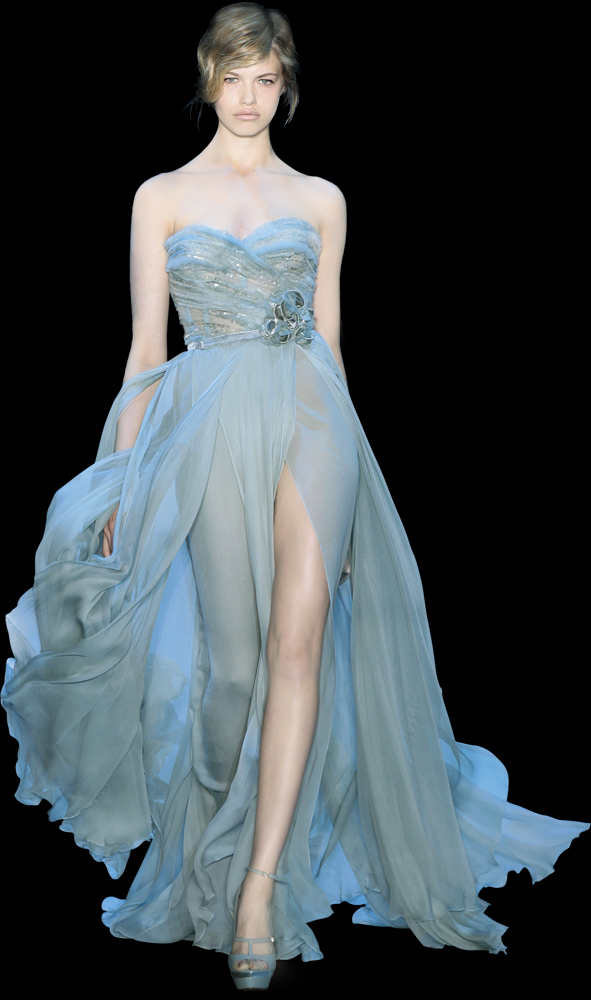 Lovely Blue Wedding Dress Gown Photo