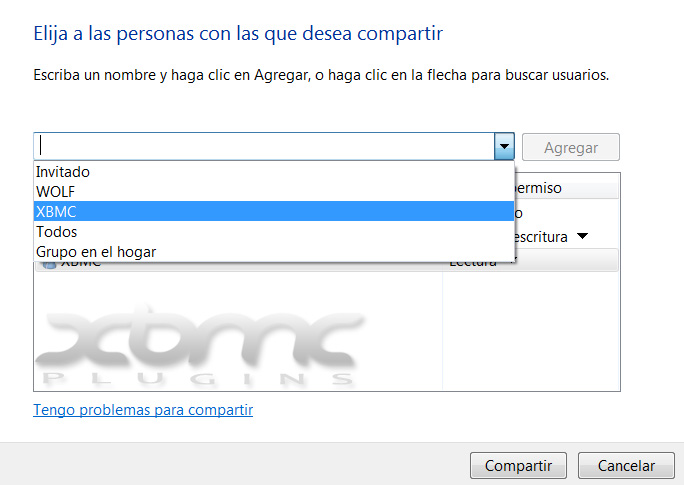 Compartir carpetas en Windows 7