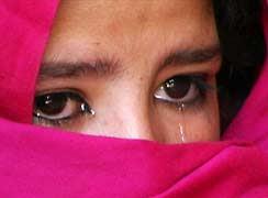 crying Muslim girl