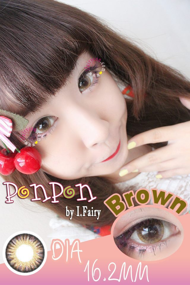 I.Fairy Pon Pon Brown circle lenses review