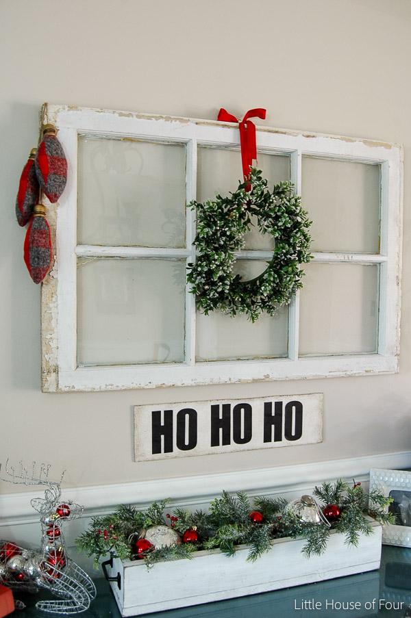 DIY Flannel Christmas Bulbs {Home For Christmas Blog Hop}  Littlehouseoffour.com