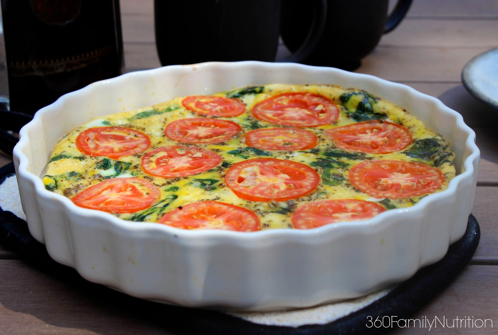 360FamilyNutrition: Spinach Tomato Frittata