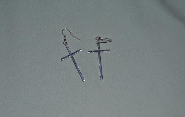 Primark cross earrings