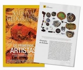Colaboração na National Geographic de Janeiro sobre os achados na praia do Belinho em Esposende.
