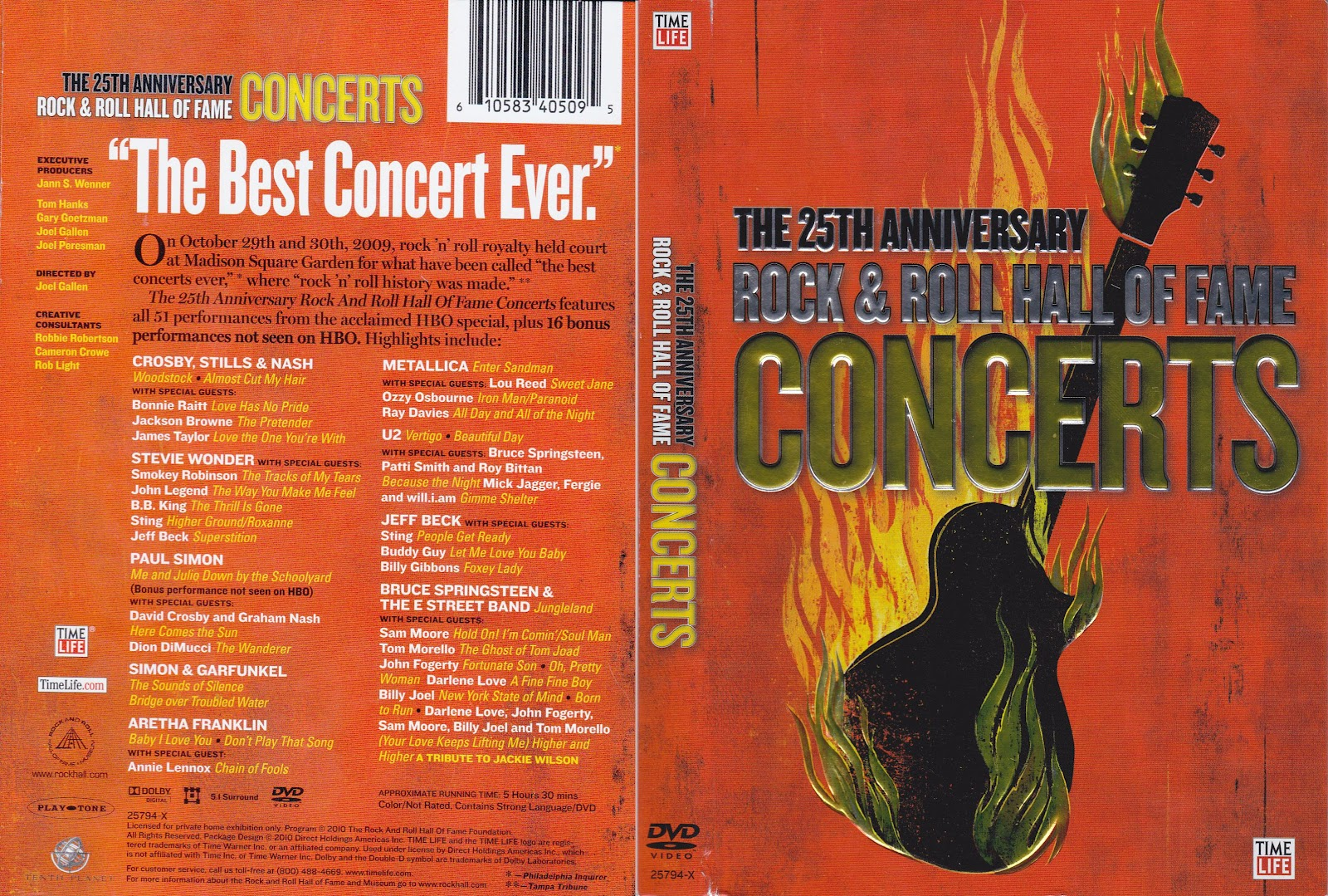 25th anniversary of rock and roll hall of fame dvd