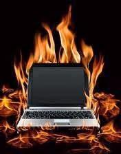 Очень горячий ноутбук (ноутбук в огне)