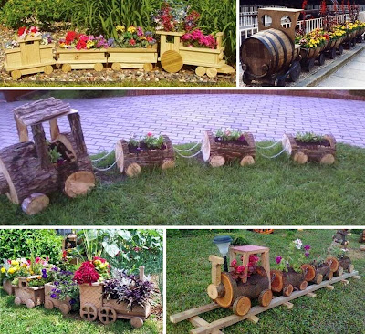 Wooden Train for Garden