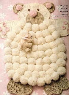 Tapetes de crochê para quarto de bebê
