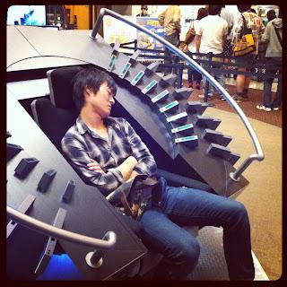 Sleeping Otaku at Cybog 009 movie.