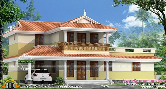 Typical Kerala model home design