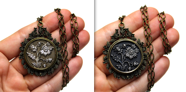 Sister Necklaces #antique #daisy #flower #jewelry