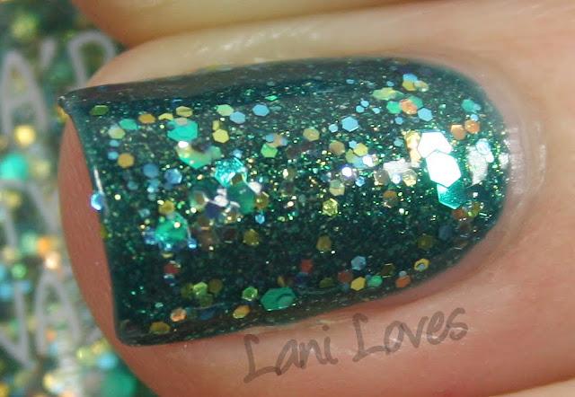 A'Pieu Twinkle Nail Touch BL03 nail polish swatch