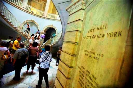 Passeio no City Hall - a prefeitura de Nova York