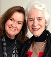 Biographer Wendy Holden and Holocaust survivor Eva Clarke