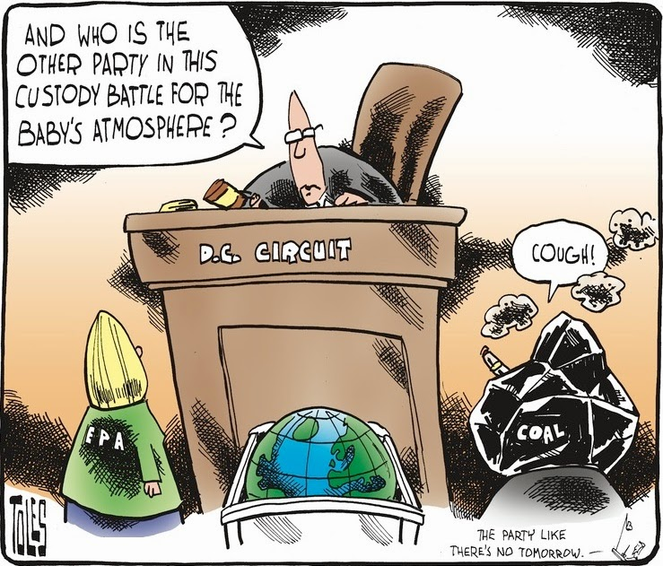 Tom Toles: Custody battle for the atmosphere.