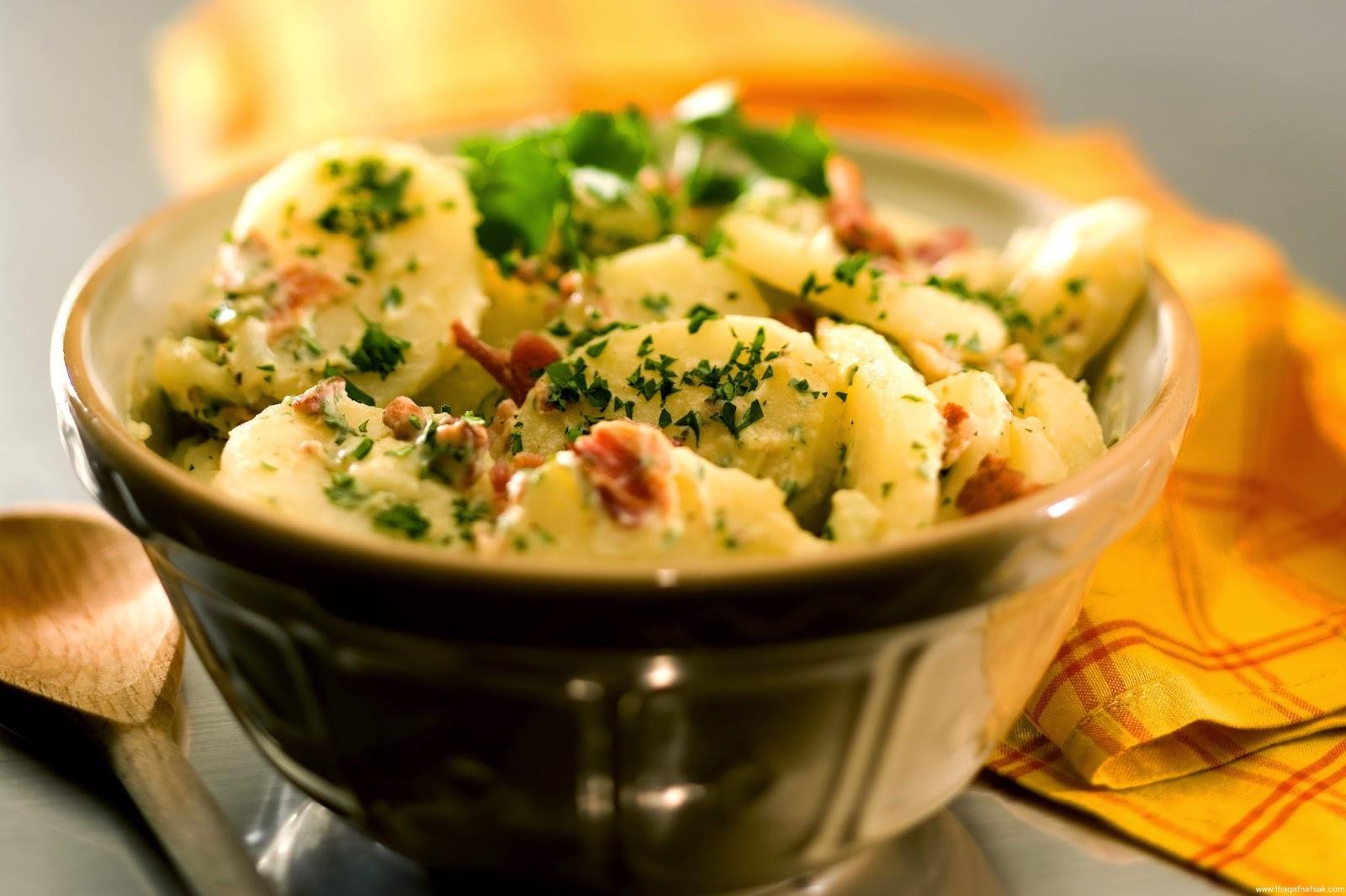 طريقة عمل سلطة البطاطس بالكاري