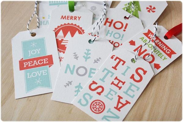 Etiquetas regalos Navidad sass&peril