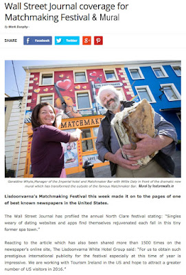 Irish Mural company featurewalls featured in wall st journal