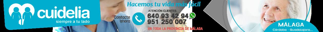 CUIDELIA · 951 250 007 · Cuidado de mayores en Málaga