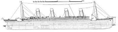 Titanic side plan from 1911