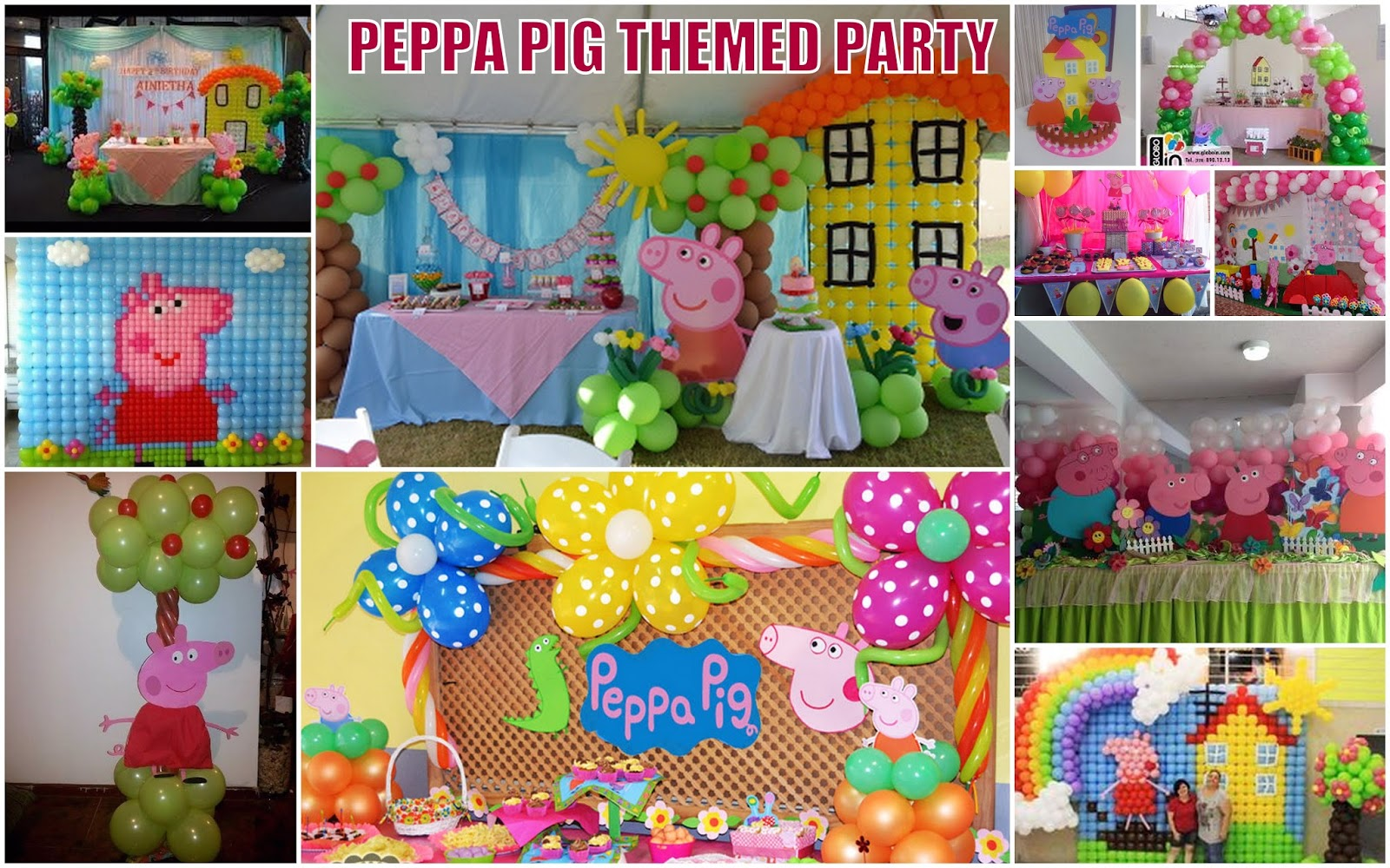 pig balloons bubbles theme s birthday davao party peppa decor athena miel and city decorations