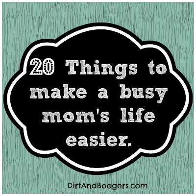 A list of 20 great products for busy moms