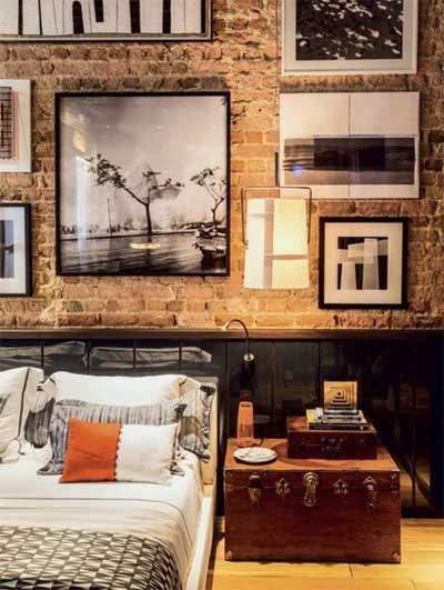 en los interiores las paredes de ladrillo visto le aportan atractivo y adems se presenta como una alternativa que admite mltiples