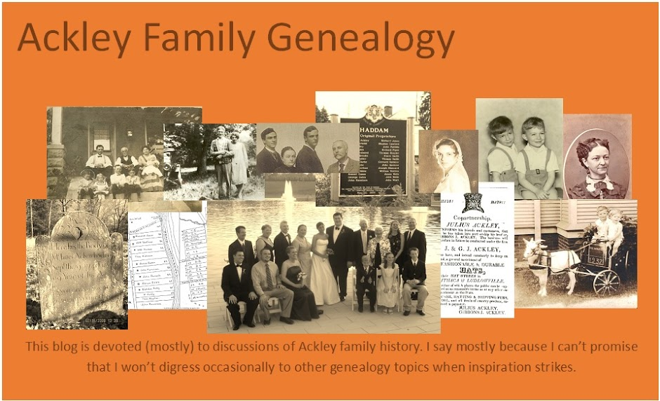 Ackley Family Genealogy