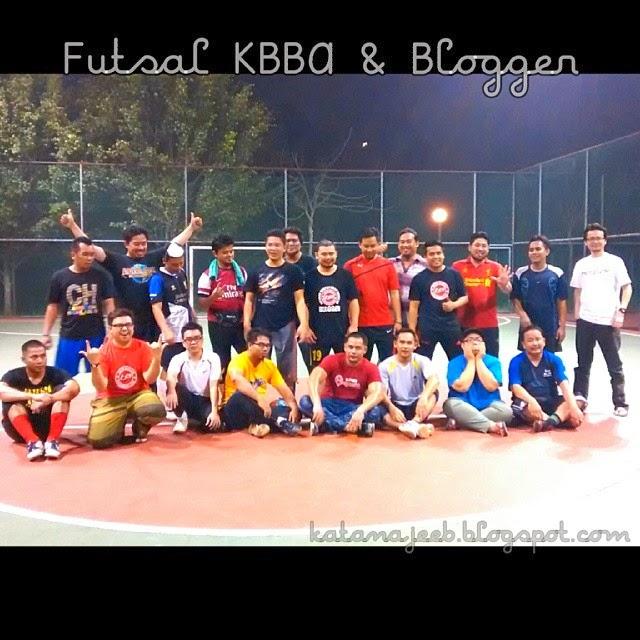 blogger, blogger-blogger malaysia,  blogger-blogger di malaysia, aktiviti riadah blogger, futsal, main futsal