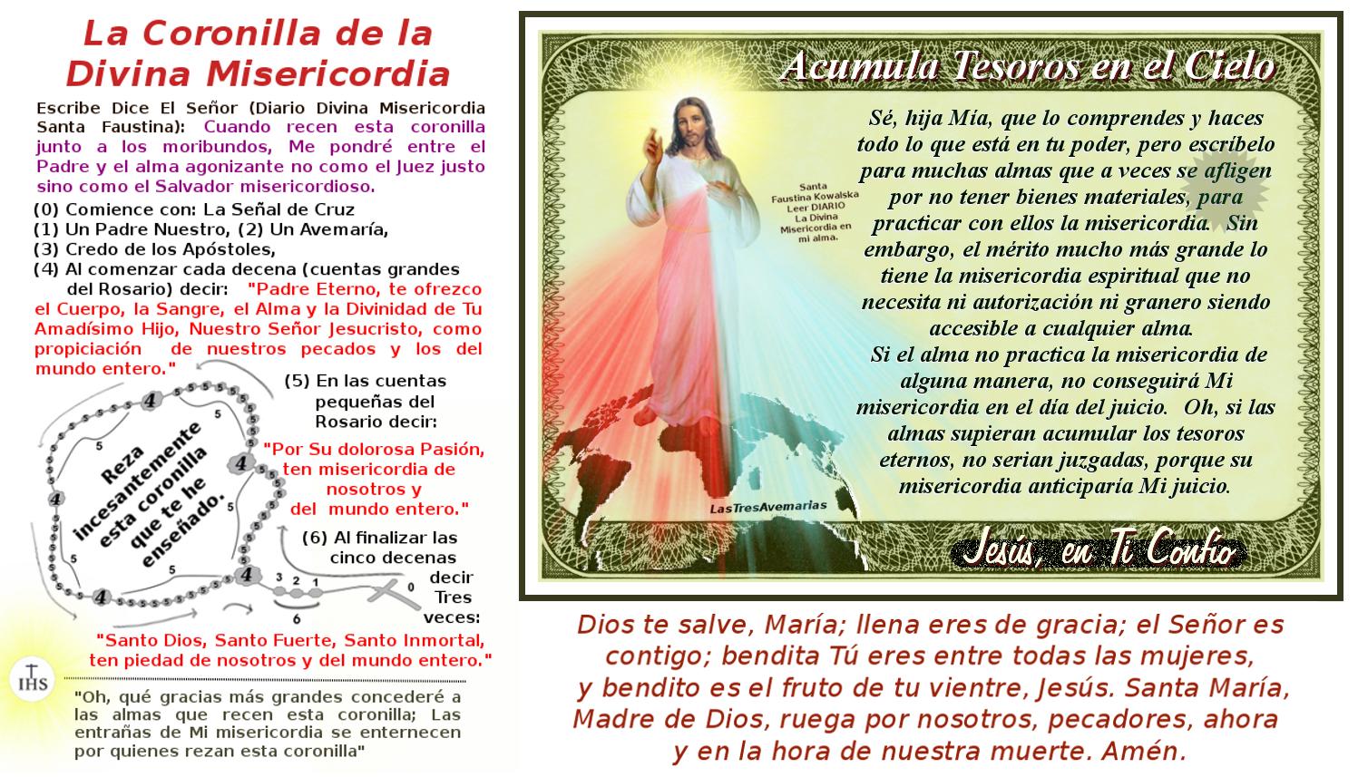 Tesoros en el Cielo foto de jesus misericordioso
