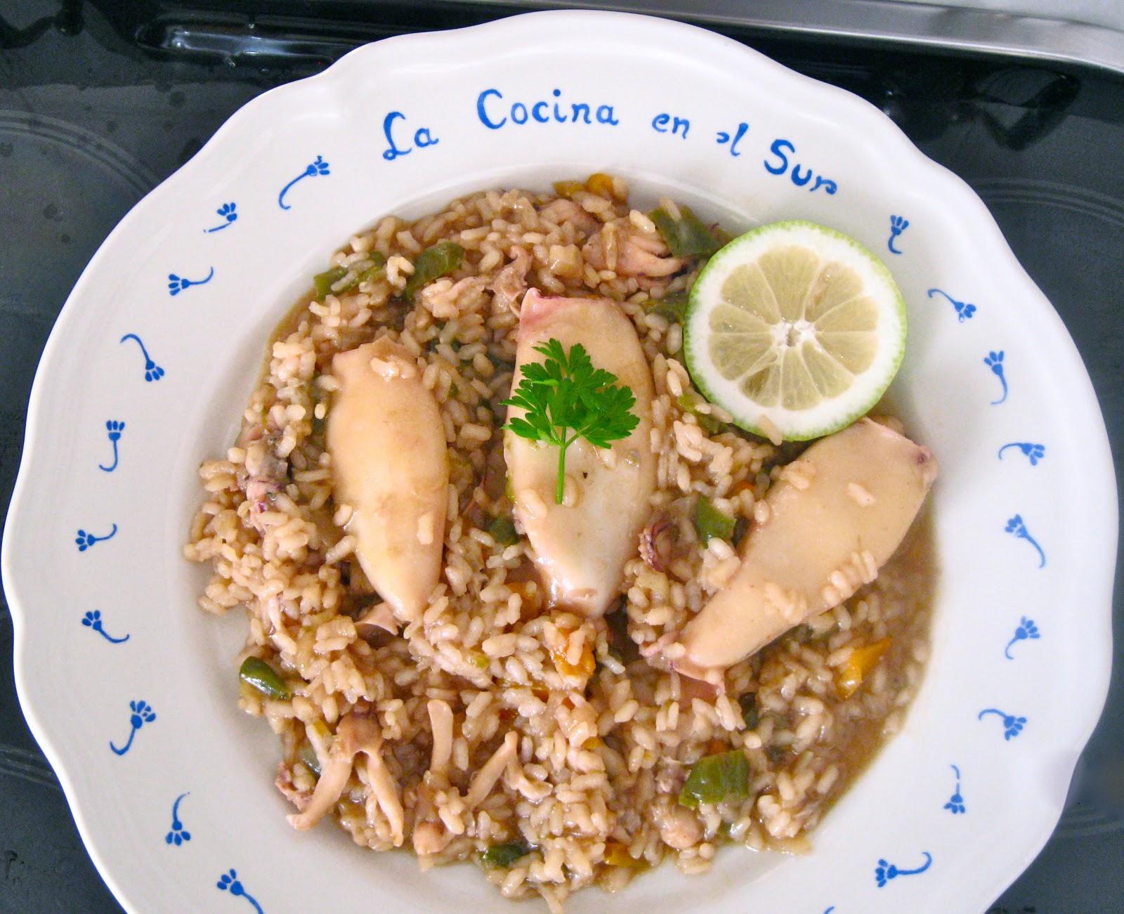 La cocina en el sur arroz meloso con calamares for Cocinar calamares pequenos