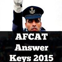 AFCAT Answer Keys 2015