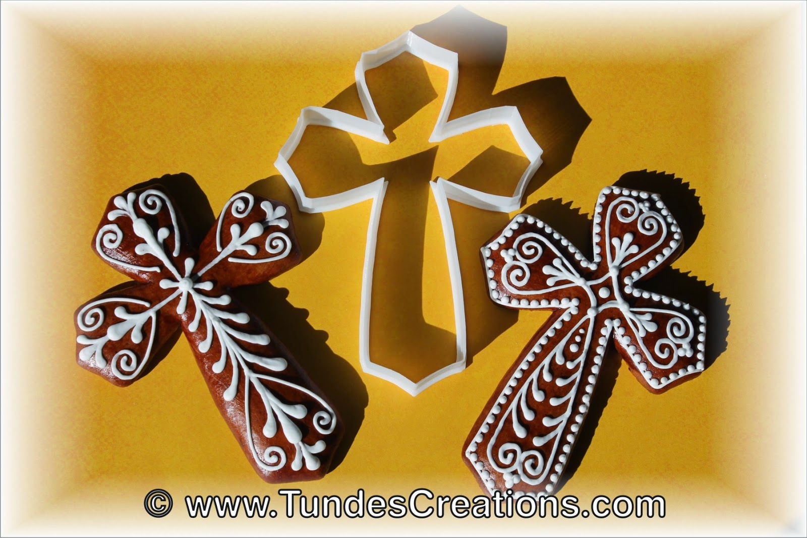 Gingerbread cross cookies