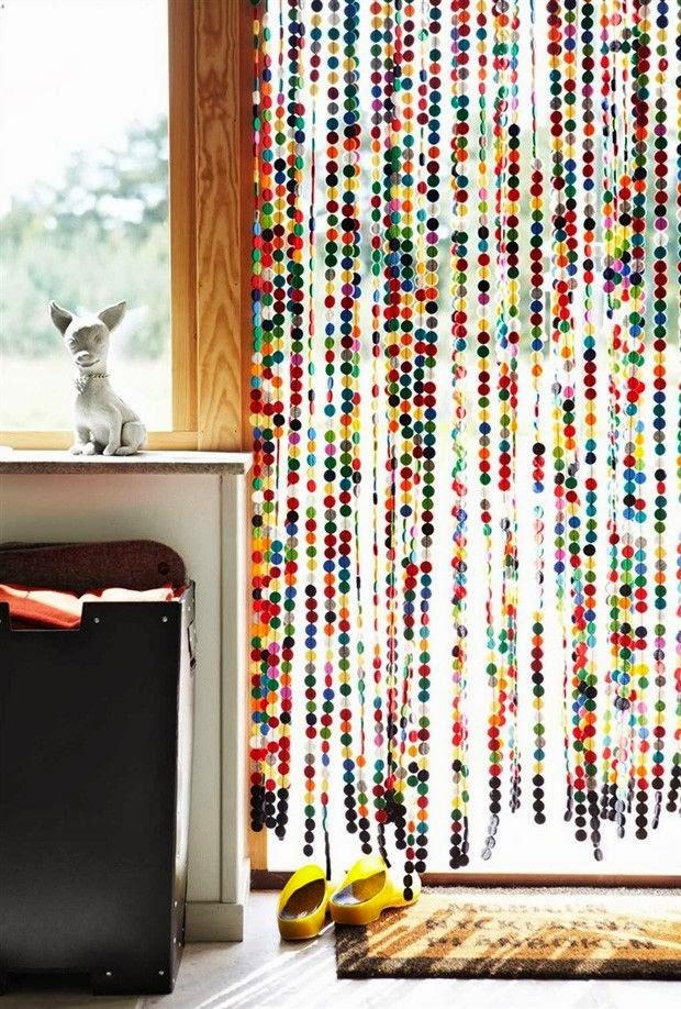 cortina para cozinha porta colorida