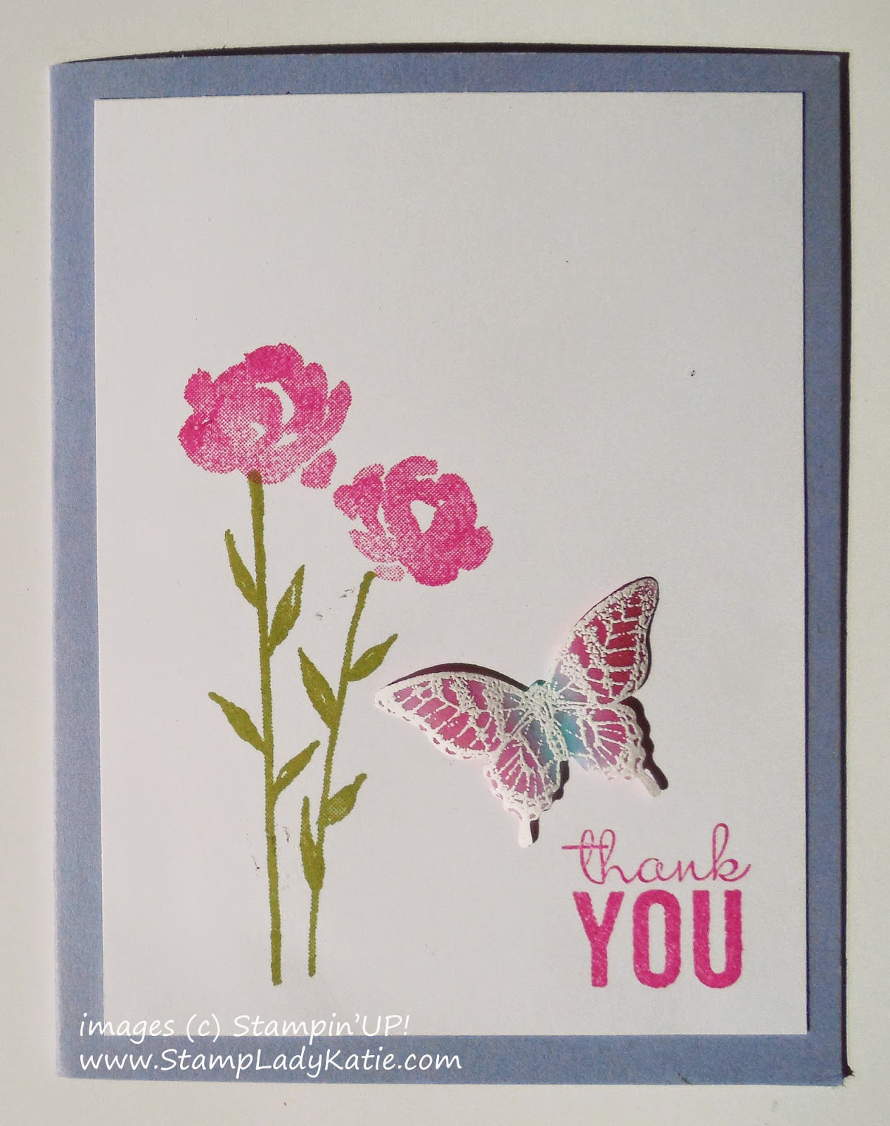 Card made with Stampin'UP!'s Painted Petals and Papillon Potpourri Stamp Sets