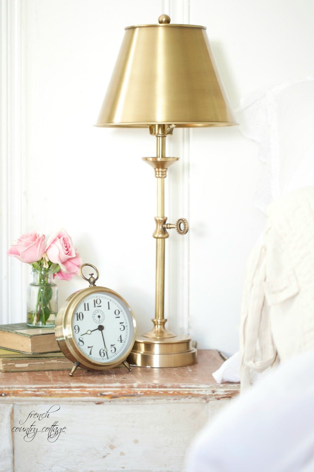 A little brass lamp - FRENCH COUNTRY COTTAGE
