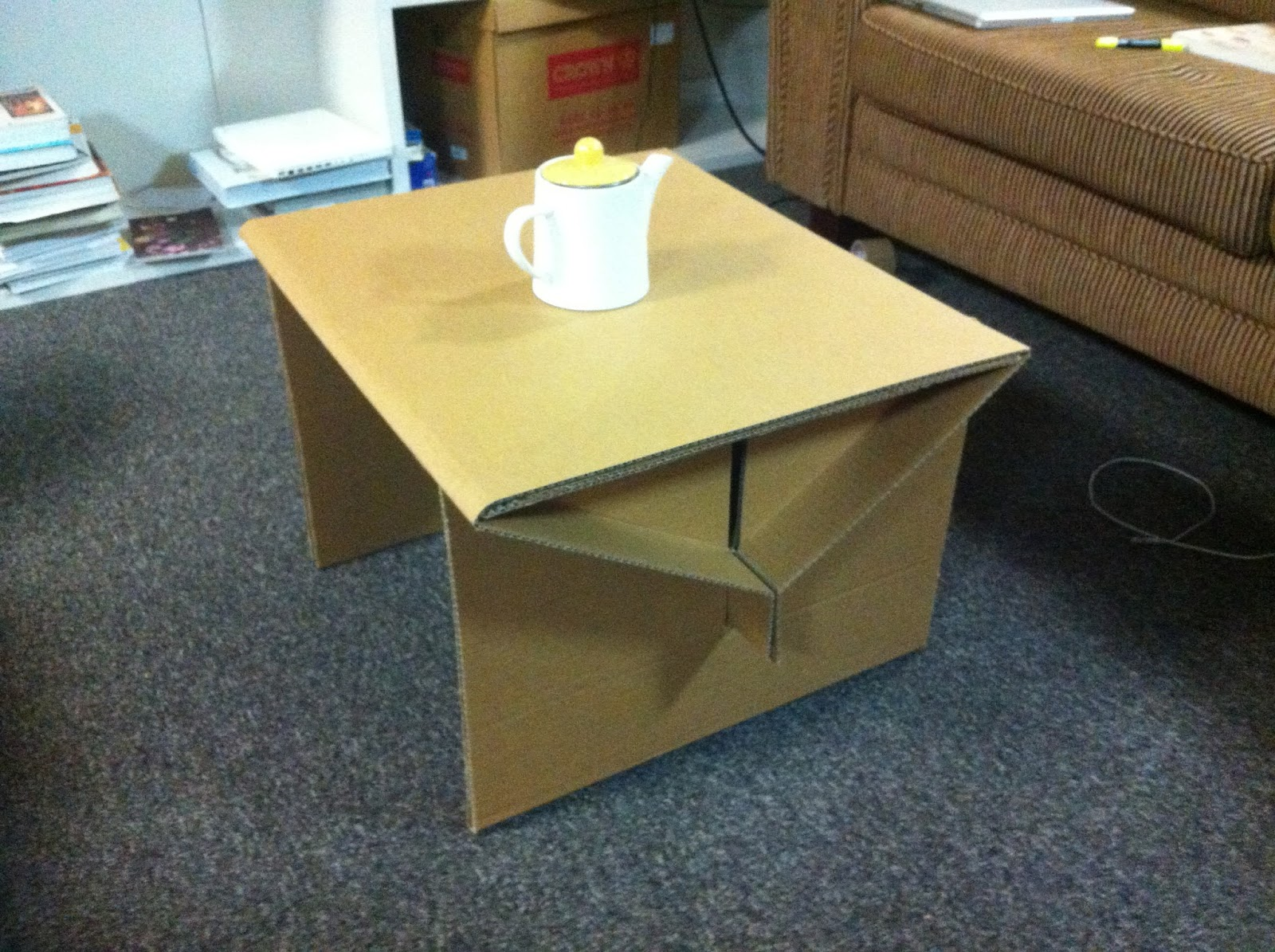 nz nano cardboard coffee table