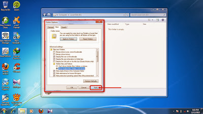 How to show hidden folder and files in windows 7 step12