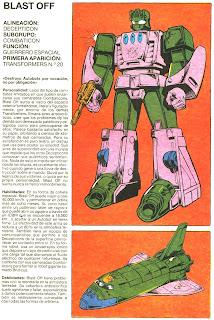 Blast Off (ficha transformers)