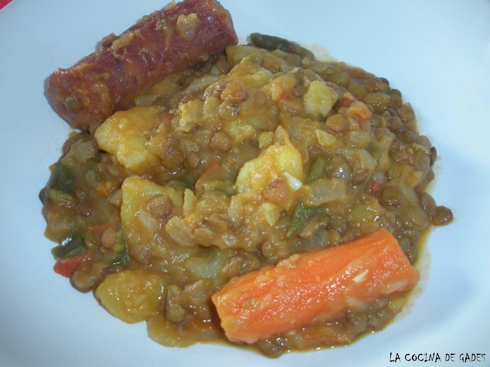 La cocina de gades lentejas con patatas - Lentejas con costillas y patatas ...