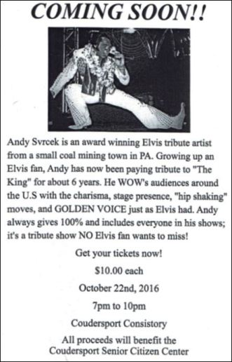 10-22 Elvis Tribute